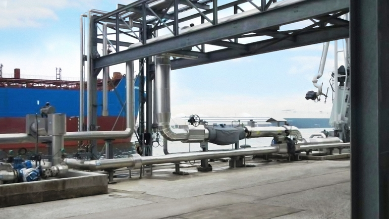"Custody transfer loading skid for HFO ship-loading and -offlaoding with Promass X 12"" Coriolis"