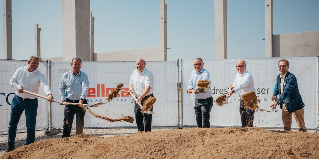 European logistics hub: Groundbreaking at the site of the new logistics center in Germany.